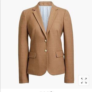 New! J.Crew women's tan wool schoolboy blazer 6